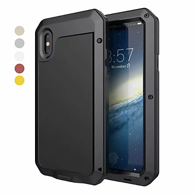 voordelige iPhone 6 Plus hoesjes-hoesje Voor Apple iPhone XS / iPhone XR / iPhone XS Max Water / Dirt / Shock Proof Volledig hoesje Schild Hard Aluminium