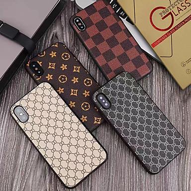 voordelige iPhone 7 Plus hoesjes-hoesje met schermbeschermer voor Apple iPhone 11/11 pro / 11 pro max stofdicht / ultradunne achterkant geometrisch patroon pu leer / pc voor iPhone 7/7 p / 8/8 p / 6/6 plus / x / xs / xr / xs max