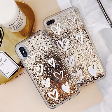 voordelige iPhone 6 hoesjes-hoesje Voor Apple iPhone 11 / iPhone 11 Pro / iPhone 11 Pro Max Stromende vloeistof / Patroon / Glitterglans Achterkant Hart PC