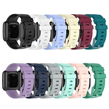 voordelige Horlogebandjes voor Fitbit-siliconen horlogeband voor fitbit versa 2 / versa lite / versa vervangbare armband polsband polsband