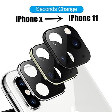 voordelige iPhone screenprotectors-gemodificeerde metalen sticker cameralens seconden veranderen dekking voor iphone x xs max nep camera voor iphone 11 pro max glasbeschermer