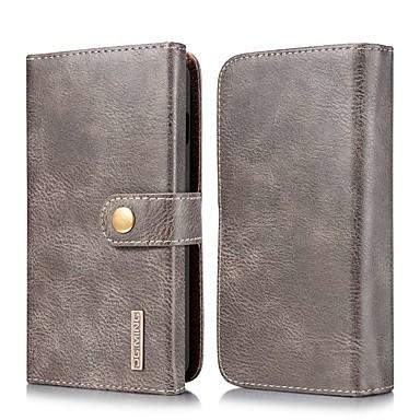 Недорогие Чехлы и кейсы для Galaxy S-Кейс для Назначение SSamsung Galaxy S9 / S9 Plus / S8 Plus Кошелек / Бумажник для карт / со стендом Чехол Однотонный Настоящая кожа