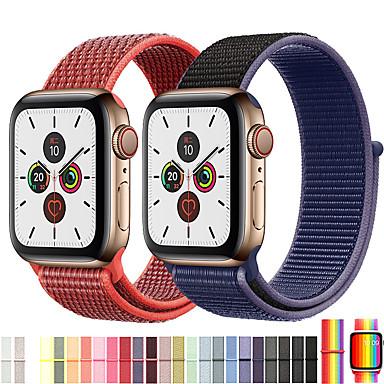 voordelige Smartwatch-accessoires-nylon sport loop horlogeband polsband voor Apple Watch-serie 5/4/3/2/1 vervangbare armband polsband serie 4/5 40 mm 44 mm