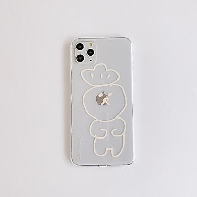olcso iPhone 6s tokok-Case Kompatibilitás Apple iPhone 11 / iPhone 11 Pro / iPhone 11 Pro Max Ultra-vékeny / Minta Fekete tok Átlátszó / Rajzfilm TPU
