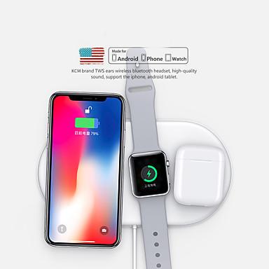 halpa Smartwatch-kaapelit ja laturit-langaton latauslevy 3 in 1 nopea langaton laturi-telakkatelakka lentokoneille / iphone 11/11 pro / xr / xs / 8/8 plus sekä samsung, huawei ja apple katsella sarjoja