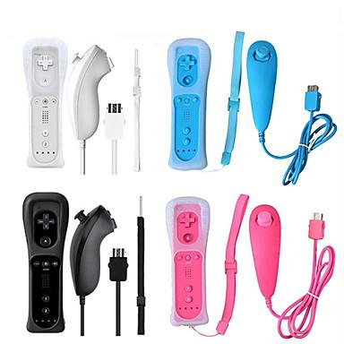 olcso Wii U tartozékok-beépített mozgás és vezeték nélküli távoli játékvezérlő a Nintendhez Wii Nunchuck a Nintendhez Wii Távirányító Joystick Joystick