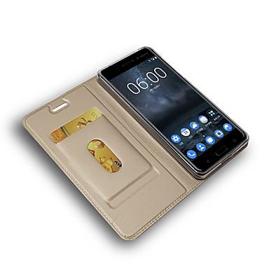 Недорогие Чехлы и кейсы для Nokia-Кейс для Назначение Nokia Nokia 7 / Nokia 7 Plus / Nokia 7.1 Бумажник для карт / Магнитный / Авто Режим сна / Пробуждение Чехол Однотонный Кожа PU / ТПУ