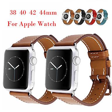 voordelige Smartwatch-accessoires-horlogeband voor Apple Watch-serie 5 / Apple Watch-serie 4 / Apple Watch-serie 3 / Apple Watch-serie 2 Apple klassieke gesp / moderne gesp / zakelijke band lederen polsband