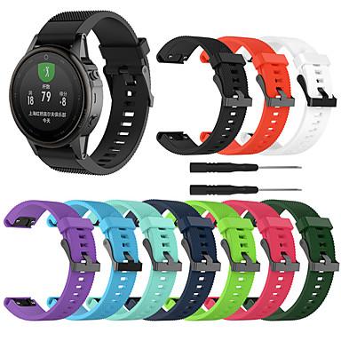 voordelige Smartwatch-accessoires-horlogeband voor fenix 5s / fenix 5s plus / fenix6s garmin sportband / klassieke gesp / moderne gesp siliconen polsband