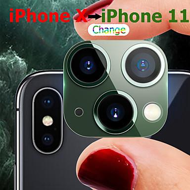 voordelige iPhone screenprotectors-iphone x / xs / xr / xs max verandering iphone 11/11 pro / 11 pro max titanium legering 3d 99% overeenkomst camera lensbeschermer seconden verandering