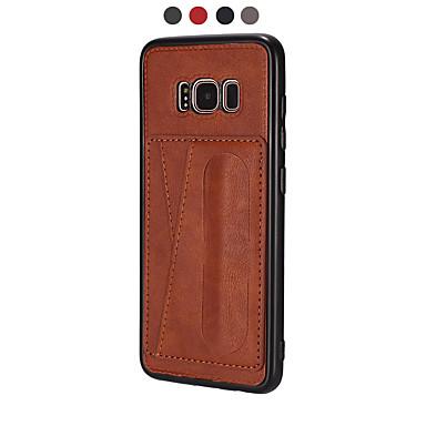Недорогие Чехлы и кейсы для Galaxy S-Кейс для Назначение SSamsung Galaxy S9 / S9 Plus / S8 Plus Кошелек / Ультратонкий / Магнитный Кейс на заднюю панель Плитка Кожа PU