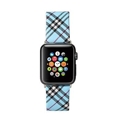 voordelige Smartwatch-accessoires-plaid patroon lederen armband band voor Apple horlogeband 44mm / 40mm / 42mm / 38mm dames / heren horloges polsband voor iwatch-serie 5/4/3/2/1