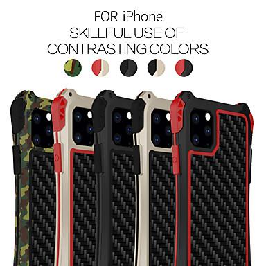 voordelige iPhone 5 hoesjes-hoesje Voor Apple iPhone 11 / iPhone 11 Pro / iPhone 11 Pro Max Schokbestendig Achterkant Effen silica Gel / Aluminium