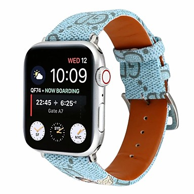 baratos Acessórios Para Celular-Pulseira de relógio para apple watch series 5/4/3/2/1 apple fivela clássica acolchoada pulseira de couro pu