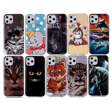 voordelige iPhone 6 hoesjes-hoesje Voor Apple iPhone 11 / iPhone 11 Pro / iPhone 11 Pro Max IMD / Patroon Achterkant Kat TPU