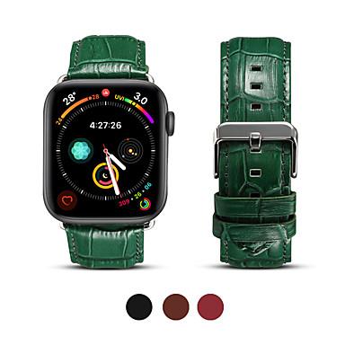 Horlogeband voor Apple Watch Series 5/4/3/2/1 Apple Zakelijke band Echt leer Polsband