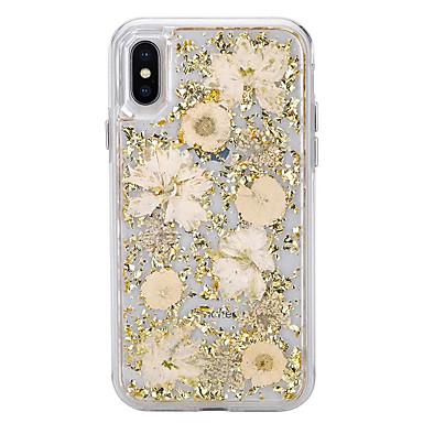 voordelige iPhone 6 Plus hoesjes-hoesje voor apple iphonex / iphonexs / iphonexr / iphone 8 plus / iphone 8 transparant / stof / waterdicht flamingo perzik flash vloeibaar effen kleur zacht tpu voor iphone 6 / iphone 6 plus / iphone