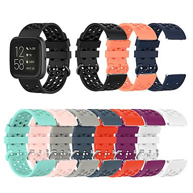 voordelige Smartwatch-accessoires-Horlogeband voor Fitbit Versa / Fitbi Versa Lite / Fitbit Versa 2 Fitbit Sportband / Klassieke gesp / Moderne gesp Silicone Polsband