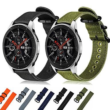 voordelige Smartwatch-accessoires-geweven nylon horlogeband polsband voor Samsung Galaxy Watch 46 mm / versnelling s3 frontier / klassiek / versnelling 2 r380 r381 r382 vervangbare armband polsband