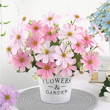 الزهور الاصطناعية 1 فرع الكلاسيكية الزفاف بتلات ريفي زهرة الطاولة