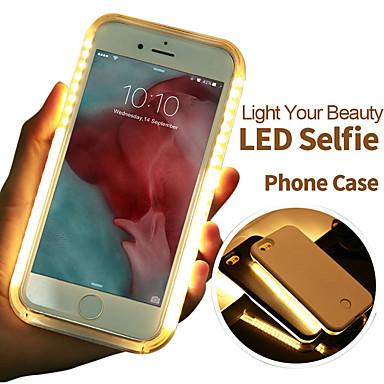 رخيصةأون أغطية أيفون-حالة الهاتف متعددة الوظائف الصمام مضيئة selfie ضوء تغطية حالة آيفون 6/6 ثانية / 6 زائد / 7/7 زائد سطوع قابل للتعديل