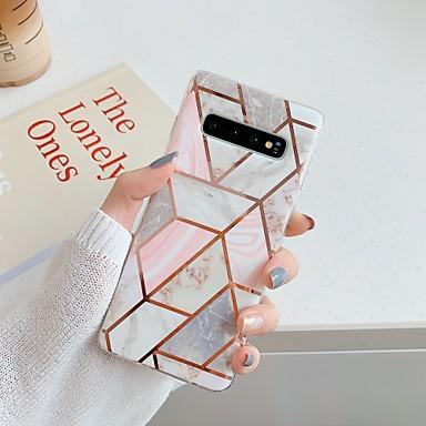 Недорогие Чехлы и кейсы для Galaxy S-Кейс для Назначение SSamsung Galaxy S9 / S9 Plus / S8 Plus Покрытие / IMD / С узором Кейс на заднюю панель Мрамор ТПУ