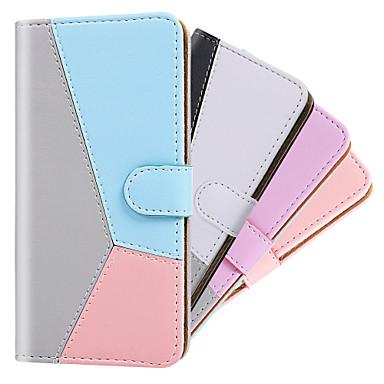 رخيصةأون حافظات / جرابات هواتف جالكسي S-غطاء من أجل Samsung Galaxy S9 / S9 Plus / S8 Plus محفظة / حامل البطاقات / ضد الصدمات غطاء كامل للجسم لون سادة / لون متغاير جلد PU