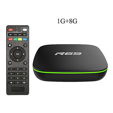 رخيصةأون صناديق التلفاز-R69 الذكية الروبوت 7.1 tv box 1 جيجابايت 8 جيجابايت allwinner h3 رباعية النواة 2.4 جرام wifi تعيين كبار مربع 1080 وعاء hd دعم 3d الفيلم مشغل الوسائط