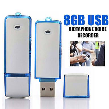 olcso Diktafonok-u-disk digitális mini audio hangrögzítő 16 GB-os professzionális hangvezérlésű felvétel diktafon usb felvevő felvételi toll 2 szín