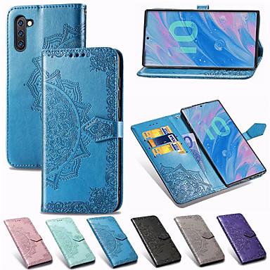 Недорогие Чехлы и кейсы для Galaxy Note-Мандала тисненый кожаный бумажник флип телефон чехол для Samsung Galaxy Note 10 плюс примечание 9 примечание 8 держатель карты стенд чехол