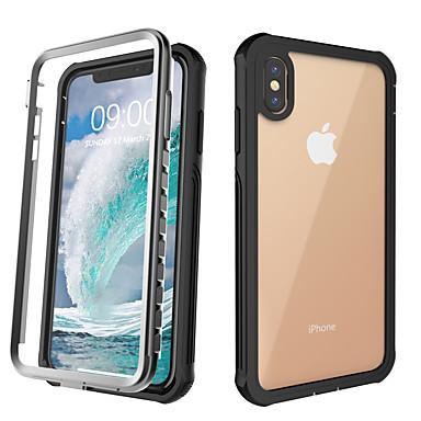 voordelige iPhone-hoesjes-hoesje Voor Apple iPhone 11 / iPhone 11 Pro / iPhone 11 Pro Max Schokbestendig Achterkant Effen silica Gel / Aluminium