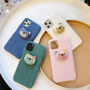 voordelige iPhone-hoesjes-hoesje Voor Apple iPhone 11 / iPhone 11 Pro / iPhone 11 Pro Max Patroon / DHZ Achterkant Cartoon / Panda / Pluche TPU