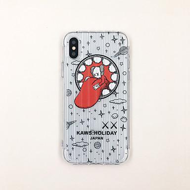 Χαμηλού Κόστους Θήκες iPhone 6 Plus-tok Για Apple iPhone XS / iPhone XR / iPhone XS Max Εξαιρετικά λεπτή / Διαφανής / Με σχέδια Πίσω Κάλυμμα Διάφανη / Κινούμενα σχέδια TPU
