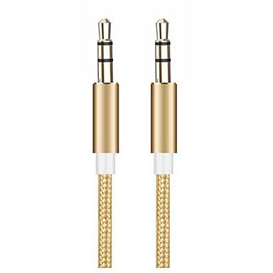 Недорогие Аксессуары для мобильных телефонов-Разъем 3,5 мм аудио кабель 3,5 мм между мужчинами стерео вспомогательный шнур для iphone 6 6s автомобильный mp3 mp4 динамик для наушников aux кабель