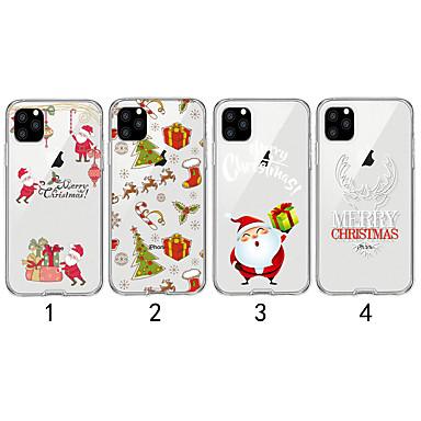 Недорогие Кейсы для iPhone-Кейс для Назначение Apple iPhone 11 / iPhone 11 Pro / iPhone 11 Pro Max Прозрачный / С узором Кейс на заднюю панель Рождество ТПУ