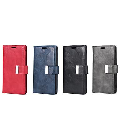 رخيصةأون حافظات / جرابات هواتف جالكسي J-غطاء من أجل Samsung Galaxy J7 / J5 (2017) / J5 محفظة / حامل البطاقات / مع حامل غطاء كامل للجسم لون سادة جلد PU / TPU