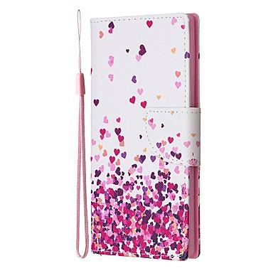 Недорогие Чехлы и кейсы для Galaxy Note-Кейс для Назначение SSamsung Galaxy Note 9 / Note 8 / Galaxy Note 10 Кошелек / Бумажник для карт / со стендом Чехол С сердцем Кожа PU