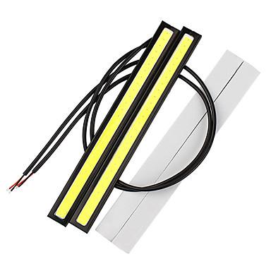 Недорогие Дневные фары-2 шт. 17 см cob drl led вождения дневные ходовые огни полосы drl бар алюминиевые полосы панели автомобиля рабочие фары 12 В светодиодные
