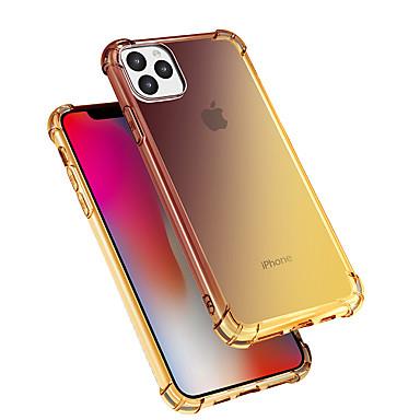 Недорогие Кейсы для iPhone-Кейс для Назначение Apple iPhone 11 / iPhone 11 Pro / iPhone 11 Pro Max Защита от удара / Защита от пыли Кейс на заднюю панель Градиент цвета ТПУ