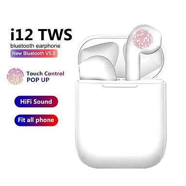 رخيصةأون سماعات أذن لاسلكية حقيقية-Tws سماعات لاسلكية i12 touch التحكم بلوتوث 5.0 3d سوبر باس القرون سماعات آيفون xiaomi هواوي سامسونج الهاتف الذكي