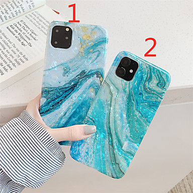 voordelige iPhone-hoesjes-hoesje Voor Apple iPhone 11 / iPhone 11 Pro / iPhone 11 Pro Max IMD / Patroon Achterkant Marmer TPU