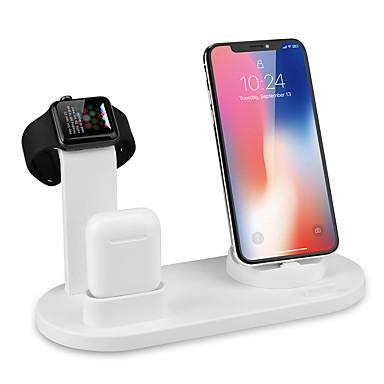 voordelige Smartwatch-accessoires-10W snelle draadloze oplader 360-hoek roterende desktop iPhone Micro USB Type-C drievoudige oplader voor iPhone Samsung Huawei Xiaomi en anderen