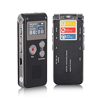 olcso Diktafonok-n28 hordozható lcd képernyő 8 GB-os digitális hangrögzítő telefon audio felvevő mp3 lejátszó diktafon