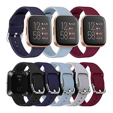voordelige Smartwatch-accessoires-horlogeband voor fitbit versa / fitbit versa lite / fitbit versa 2 fitbit sportband / klassieke gesp / moderne gesp siliconen polsband