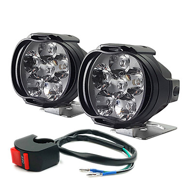 voordelige Motorverlichting-elektrische auto led lamp externe motorfiets leidde om het licht te schieten auto extra koplampen mistlampen 2 stks