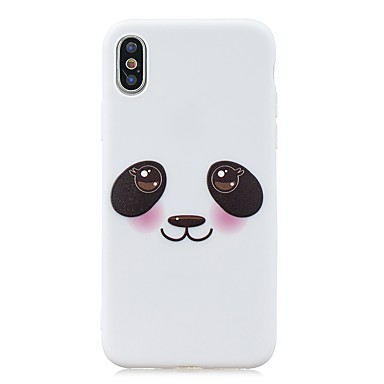 voordelige iPhone X hoesjes-hoesje Voor Apple iPhone XS / iPhone XR / iPhone X Ultradun / Patroon Achterkant Panda TPU