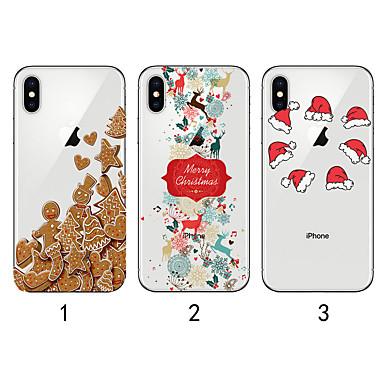 Недорогие Кейсы для iPhone-Кейс для Назначение Apple iPhone 11 / iPhone 11 Pro / iPhone 11 Pro Max Полупрозрачный / С узором Кейс на заднюю панель Рождество ТПУ