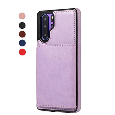 olcso Táblagép tokok-Case Kompatibilitás Huawei MediaPad Huawei P30 / Huawei P30 Pro / Huawei P30 Lite Kártyatartó / Flip Héjtok Egyszínű PU bőr / TPU