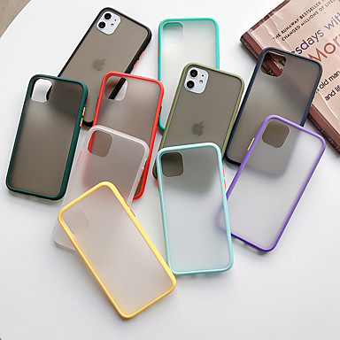 Недорогие Кейсы для iPhone X-Кейс для Назначение Apple iPhone 11 / iPhone 11 Pro / iPhone 11 Pro Max Матовое Кейс на заднюю панель Прозрачный Акрил / силикагель