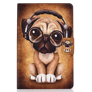 رخيصةأون أغطية أيباد-غطاء من أجل Apple iPad Air / iPad 4/3/2 / iPad (2018) حامل البطاقات / مع حامل / نموذج غطاء كامل للجسم كلب جلد PU / TPU
